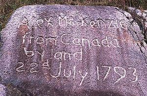 Alexander Mackenzie (explorer) - Image: Alex Mac Kenzie from Canada by land