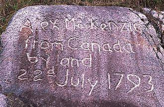 Alexander MacKenzie Heritage Trail - W