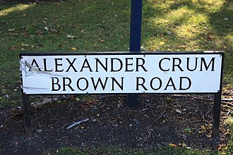 Alexander Crum Brown - Alexander Crum Brown Road, Edinburgh