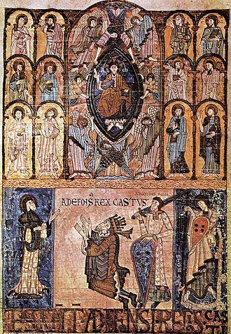 Alfonso II of Asturias - Alfonso II in the twelfth-century Libro de los Testamentos.