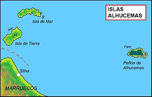 Alhucemas Islands - Map of the Ahucemas Islands
