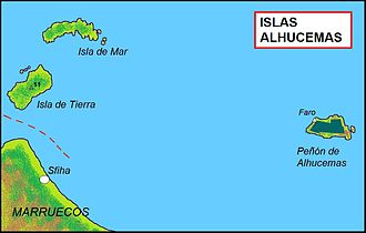 Alhucemas Islands - Map of the Ahucemas Islands