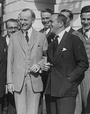 Hillcrest Country Club (Los Angeles) - Hillcrest member Al Jolson poses with Calvin Coolidge.