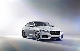All-New Jaguar XF Revealed in Dramatic 'High-Wire' Journey (16737709379).jpg