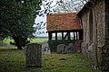 All Saints Church, Berners Roding, Essex porch from the east.jpg