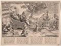 Allegorie op de Nederlandse overwinningen op zee tijdens de Tweede Engelse Oorlog, 1654 De Zeegepralende Neederlandse Zee Helden (titel op object), RP-P-OB-77.987.jpg