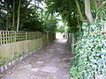 Alleyway adjacent to Monken Hadley church.JPG