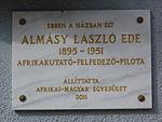 Almásy László emléktáblája - Budapest (1).JPG