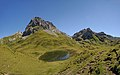 Alpsee vor Roggalspitze 2673 m, Panorama.jpg