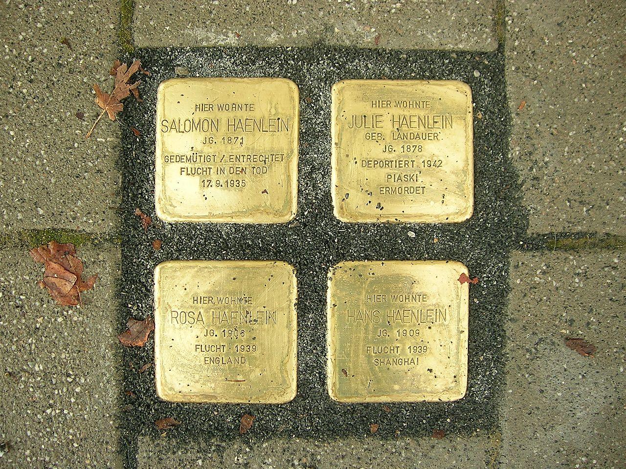 Am Graben 21 Eichstätt -Stolpersteine Haenlein