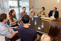 Ambassador Visit to the Weizmann Institute (8682086307).jpg
