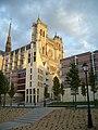 Amiens - Cathédrale, facade, soleil couchant (2).JPG