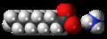 Ammonium nonanoate ions spacefill.png