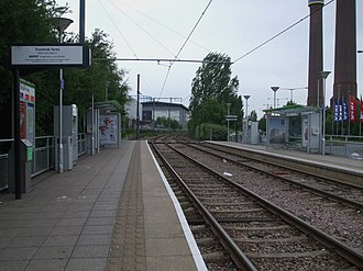 Ampere Way tram stop - Image: Ampere Way tramstop look east
