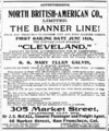 An 1898 North British American advertisement listing J C Besley as Traffic Manager of the company.png
