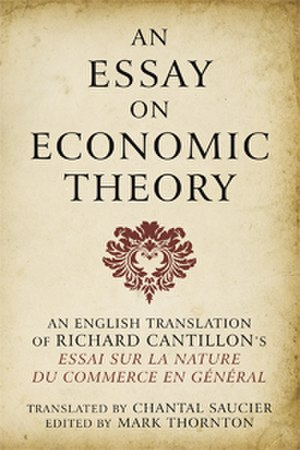 Richard Cantillon - Cover of the Ludwig von Mises Institute's edition of Cantillon's Essai