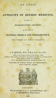 An Essay on the Antiquity of Hindoo Medicine.djvu
