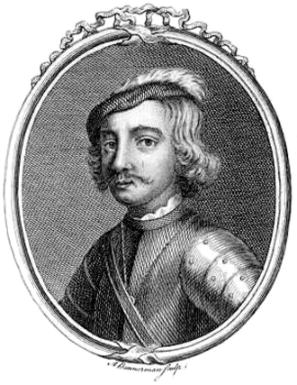 Indulf - Anachronistic 18th century depiction of Indulf, likely bearing no resemblance to the actual king