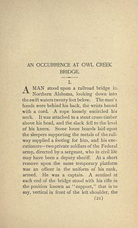 An Occurrence at Owl Creek Bridge - Wikipedia