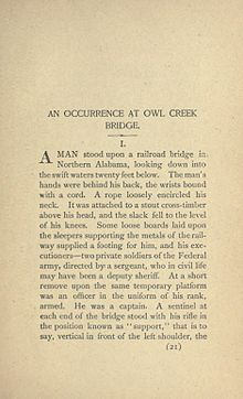 summary of the story an occurrence at owl creek bridge