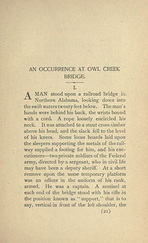 An Occurrence at Owl Creek Bridge - Image: An Occurrence at Owl Creek Bridge 1891