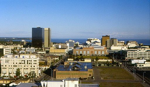 Anchorage - Downtown from Sheraton Hotel 1997