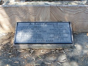 Anderson Dawson - Anderson Dawson's headstone at Brisbane's Toowong Cemetery.