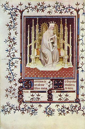André Beauneveu - David from the Psalter of Jean de Berry