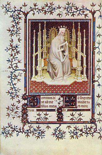 André Beauneveu - David from the Psalter of Jean de Berry