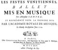 André Campra - Les Fêtes vénitiennes - titlepage of the score, Paris 1714.png