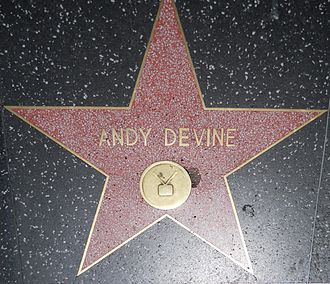 Andy Devine - Devine's star on the Hollywood Walk of Fame, 6366 Hollywood Blvd.