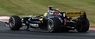 Andy Soucek - Soucek driving for Super Nova Racing at the Silverstone round of the 2008 GP2 Series season.