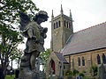 Angel memorial at All Hallows Church, Bispham 2.jpg