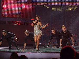 Ukraine in the Eurovision Song Contest - Image: Ani Lorak ESC 2008 final 2