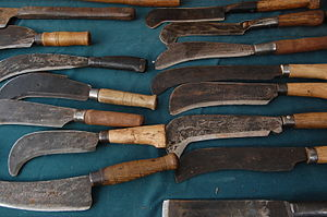 Billhook - Billhooks for sale at Ludlow market, Shropshire, England