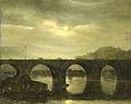 Antonie Waldorp - Gezicht op een Seinebrug te Parijs bij maanlicht.jpg