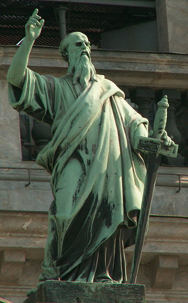 File:Apostle Paul on St.Isaac cathedral (SPb).jpg
