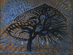 Apple Tree Pointillist Version by Piet Mondrian