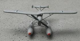 Modèle réduit d'un Ar 231 montrant la configuration des ailes dépliées