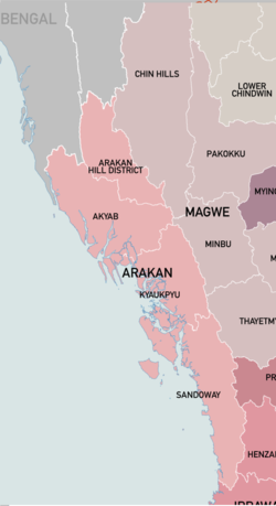 Arakan Division and its four districts