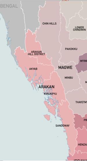 Arakan Division - Arakan Division and its four districts