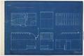 Arbetsritning för fastigheten nr 4 Hamngatan. Inredning av badrummet, blueprint - Hallwylska museet - 105254.tif