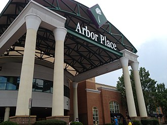 Arbor Place Mall - Entrance to Arbor Place Mall, July 2012