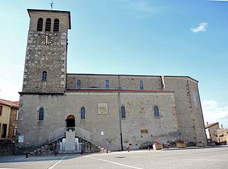 Ardoix - Image: Ardoix église extérieur