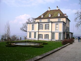 Arenenberg - Arenenberg and its turf parterre