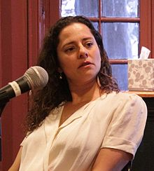 American journalist and author Ariel Levy, speaking at the Kelly Writers House of the University of Pennsylvania in Philadelphia.