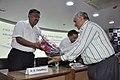 Arijit Dutta Choudhury Receives Flower Bouquet From Shrikant Pathak - CRTL Silver Jubilee Celebration - NCSM - Kolkata 2018-03-13 8358.JPG