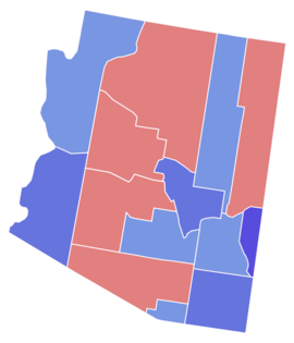 Arizona Senate Election Results by County, 1952.png