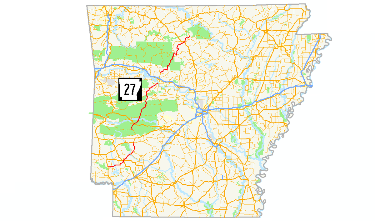 I 40 Arkansas Map.Arkansas Highway 27 Wikipedia