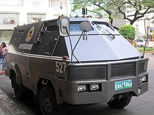 Non-military armored vehicle - Image: Armored car Manila